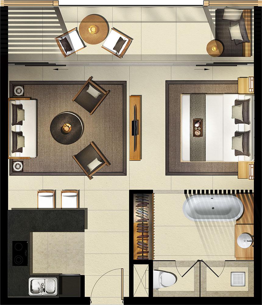 Mặt bằng căn hộ